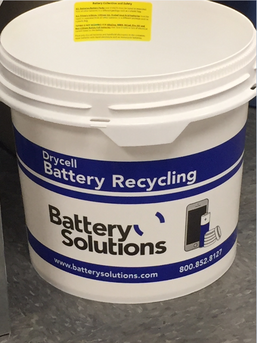 Battery recycling bucket