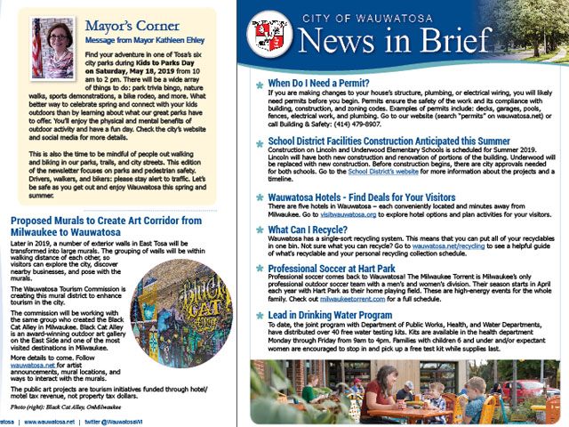 Spring Edition of City Newsletter Available