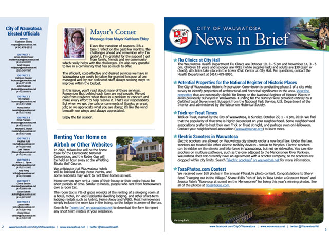 Read the Fall 2019 City Newsletter