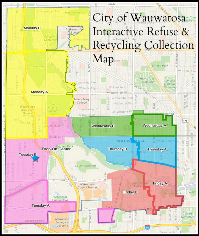 Interactive Refuse & Recycling Collection Map