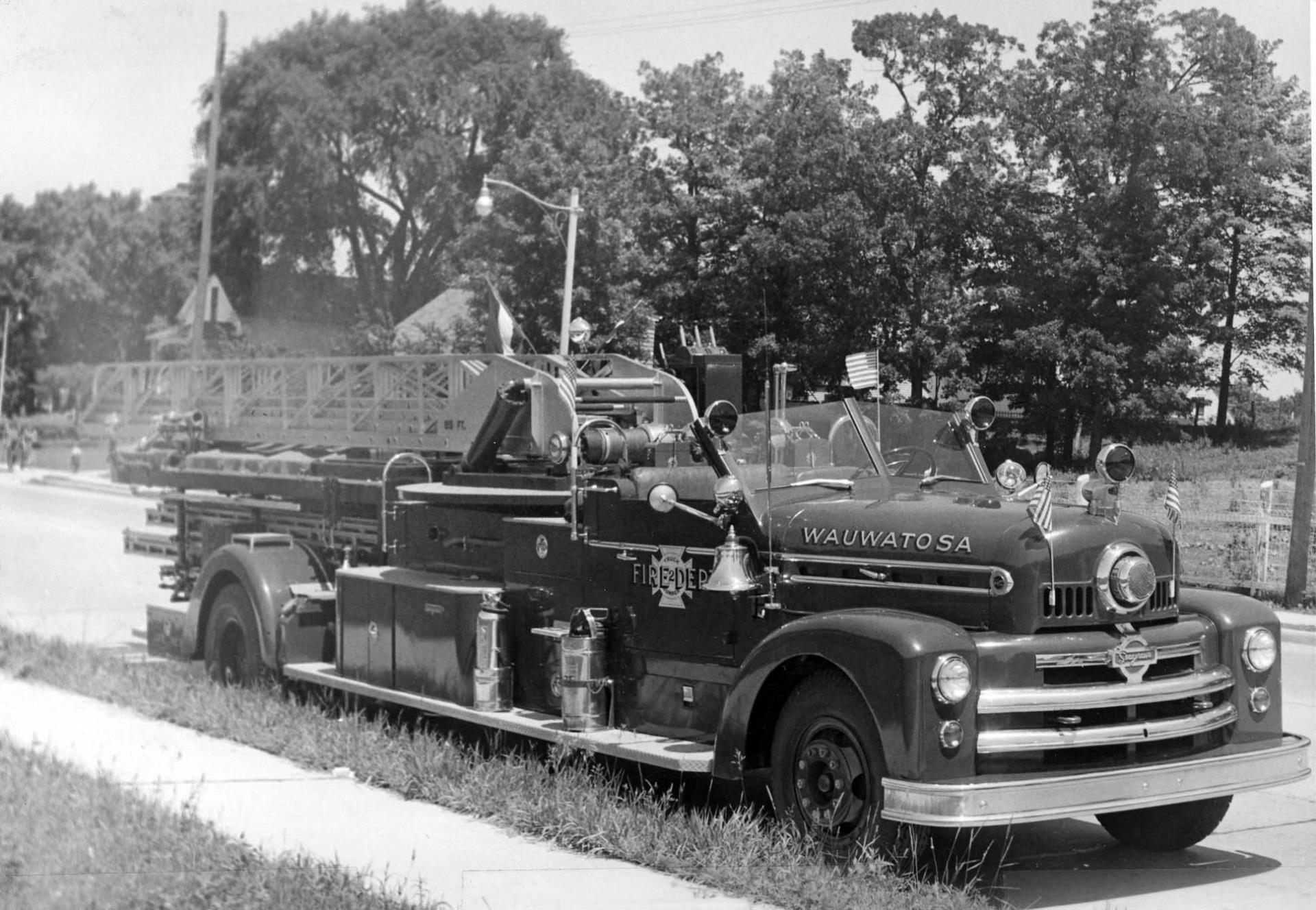Fire trucks through the times.